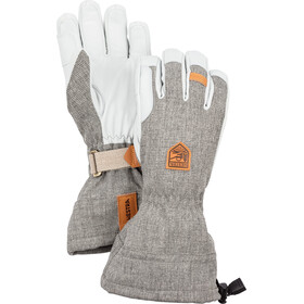 Hestra M's Army Leather Patrol Gauntlet 5-Finger Handschuhe light grey